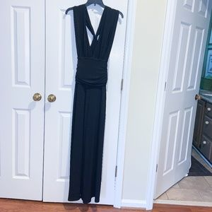NWT WHBM BLACK SHORT SLEEVE CONVERTIBLE JUMPSUIT